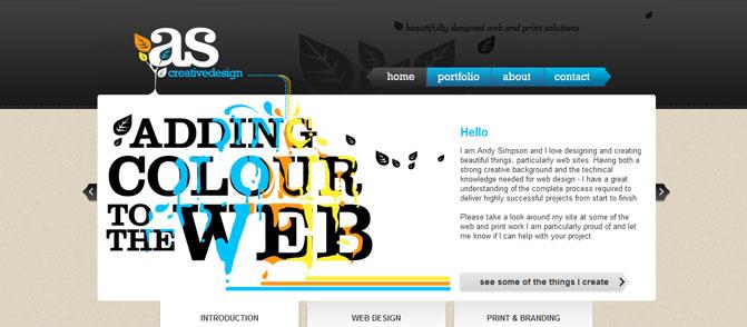 Design by as creative design as creative design is a portfolio website